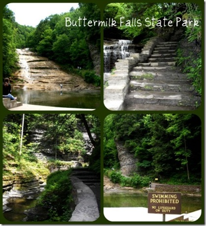 Buttermilk Falls collage